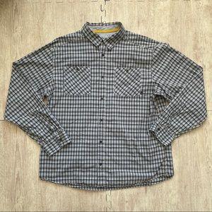 Mountain Hard Wear Shirt Men's XL Gray Plaid